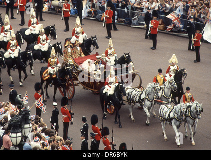 Mariage du Prince Charles et de Lady Diana Spencer le 29 juillet 1981 Banque D'Images