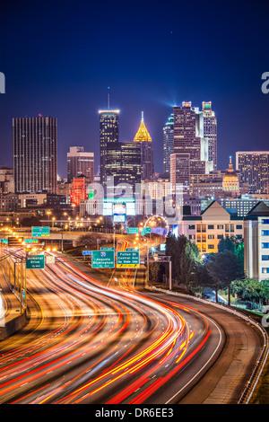Le trafic d'Atlanta, Georgia, USA. Banque D'Images