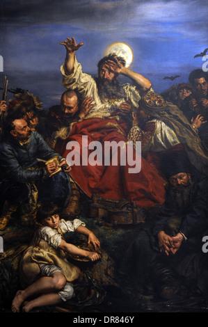 Jan Matejko (1838-1893). Peintre polonais. Wernyhora, 1883-1884. Musée national. Cracovie. La Pologne. Banque D'Images