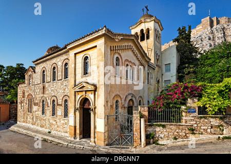 L'église d'Agios Nikolaos Ragavas de Plaka à Athènes, Grèce Banque D'Images