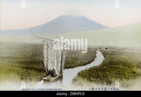 Japon - Le Mont Fuji vu de Kashiwabara Banque D'Images