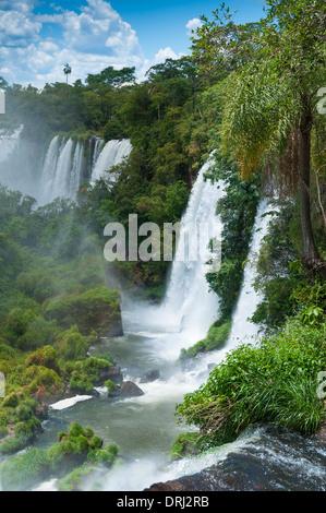 Chutes d'Iguaçu à la frontière Argentine Brésil Banque D'Images