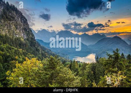 Alpes bavaroises paysage en Allemagne. Banque D'Images
