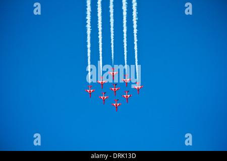 RAF, des flèches rouges au Koweït. Banque D'Images