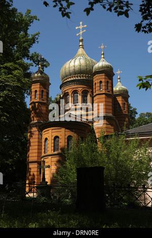Chapelle Orthodoxe Russe construite en 1860 pour la grande-duchesse Maria Pavlovna de Russie au cimetière historique Banque D'Images
