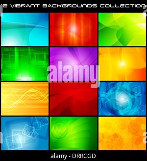 Ensemble de milieux abstrait lumineux Banque D'Images