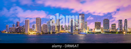 Miami, Floride, USA skyline panorama. Banque D'Images