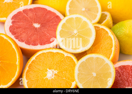 Les oranges, citrons et pamplemousses, Banque D'Images