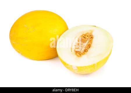 Melon canari Banque D'Images