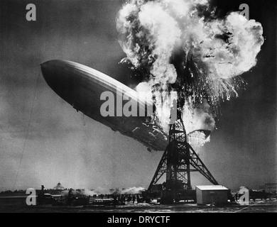 La catastrophe du Hindenburg Banque D'Images
