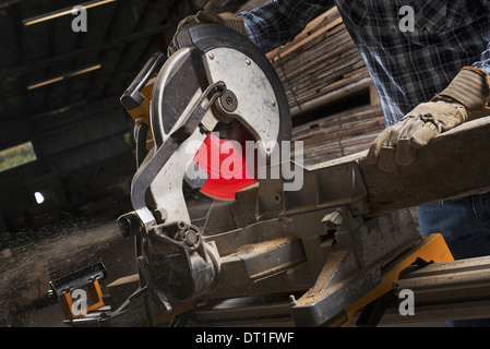 Atelier de bois d'une terre Banque D'Images
