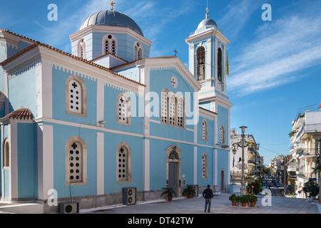 Eglise d'Agios Nikolaos, le centre de Kalamata Messenia, Sud du Péloponnèse, Grèce, Banque D'Images