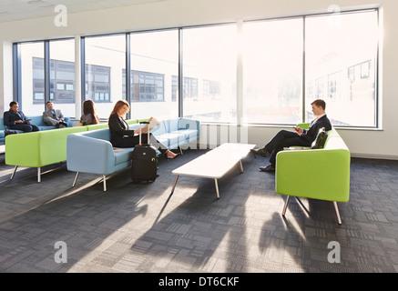 D'affaires de departure lounge Banque D'Images