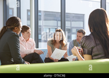 Portrait of business colleagues in meeting Banque D'Images