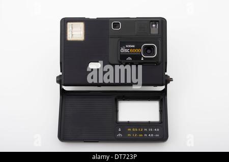 Avec l'appareil photo Kodak disc 6000 film Kodak disc Banque D'Images