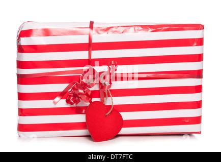 Valentines Day présent découpe studio Banque D'Images
