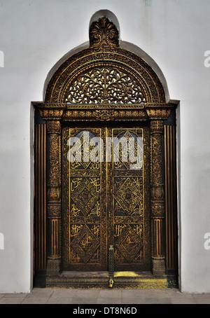 Porte ouvragée Zanzibar Banque D'Images