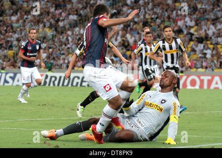 Rio de Janeiro, Brésil. 11 février 2014. Gardien de Jefferson de Botafogo (BRA) lors du match contre San Lorenzo Banque D'Images