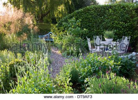 Saffron Walden guichets d'été Angleterre Essex country cottage garden été Juin au milieu de l'été jardin de style Banque D'Images