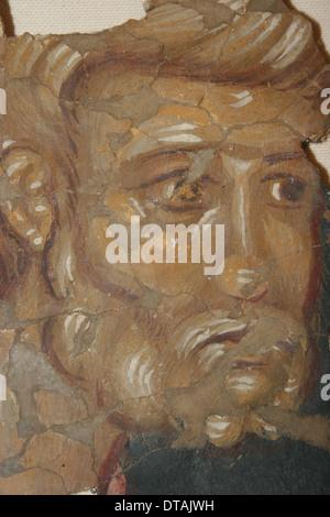 L'Apôtre Pierre, 14e siècle. Artiste: fresques de la Russie ancienne Banque D'Images