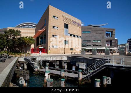 Le Musée Te Papa de Nouvelle-Zélande, au port, à Wellington, Île du Nord, Nouvelle-Zélande Banque D'Images