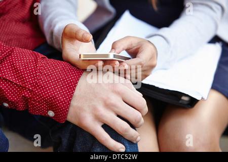 Jeune couple de passer du temps ensemble Banque D'Images