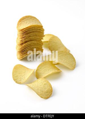 Croustillant de pommes de terre, type Pringle Banque D'Images