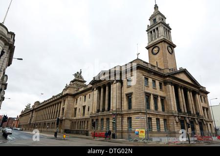 L'hôtel de ville et les tribunaux de la justice dans la ville de coque Kingston Upon Hull East Riding city center Banque D'Images