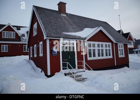 Maisons à Nuuk. Groenland Banque D'Images