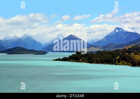 Paysage du lac Wakatipu près de Glenorchy dans l'île du Sud, Nouvelle-Zélande. Banque D'Images