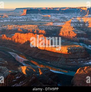 Lever du soleil d'hiver Dead Horse Point State Park, Utah - USA