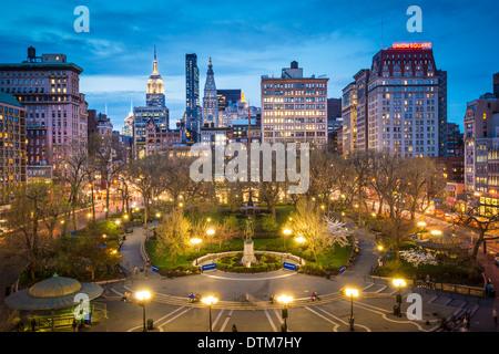 New York à Union Square à Manhattan. Banque D'Images