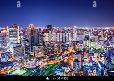 Osaka, Japon, à l'historique quartier de Umeda. Banque D'Images