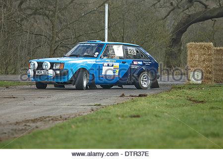 Stoneleigh Park, dans le Warwickshire, Royaume-Uni. Feb 22, 2014. Talbot Sunbeam Lotus voiture rallye Rallye Live, Banque D'Images