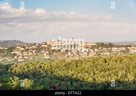 Village typique du paysage en Toscane Italie Banque D'Images