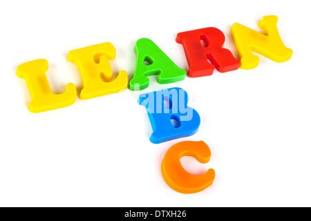 Mots Apprendre et ABC Banque D'Images