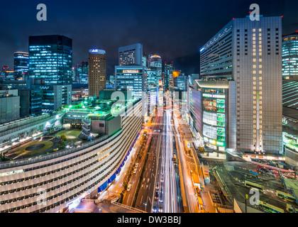 Osaka, Japon, dans le quartier d'Umeda Banque D'Images