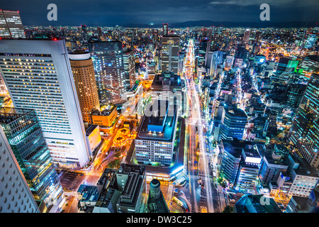 Osaka Japon aerial cityscape Banque D'Images