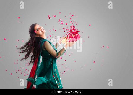 Indian girl Falling Flower