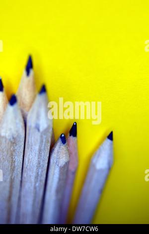 Crayons en bois Banque D'Images
