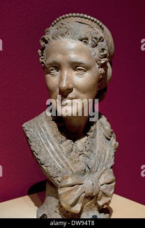 Buste d'une femme 1879 Theodore Gruyere 1814-1885 Français France