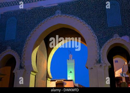 Bab Bou Jeloud, Fès, Maroc, Afrique du Nord, Afrique Banque D'Images