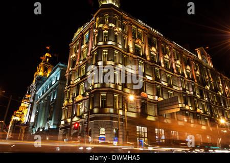 L'architecture coloniale le long du Bund à Shanghai, Chine. Banque D'Images