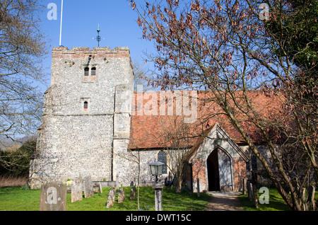 L'église St Mary vierge dans le village de Turville dans Buckinghamshire en Angleterre Banque D'Images