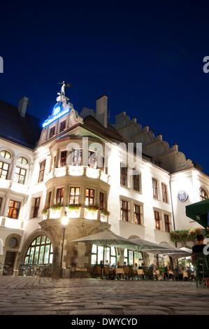 Germany, Bavaria, Munich Platzl, Square, célèbre Brasserie Hofbrauhaus Banque D'Images