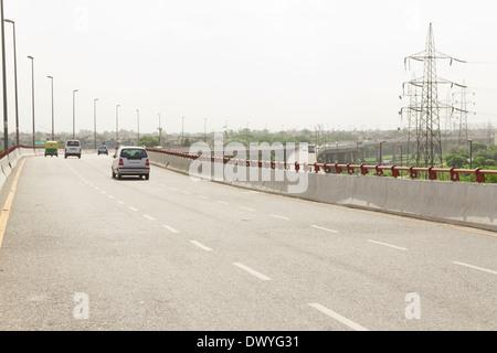 L'autopont de l'autoroute indienne Banque D'Images