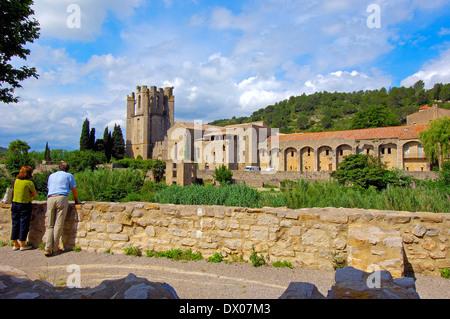 L'abbaye Sainte-Marie de Lagrasse, Lagrasse Banque D'Images