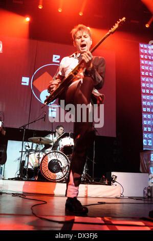 Brighton, UK. Mar 17, 2014. Franz Ferdinand joue le Brighton Dome le 17/03/2014 à Brighton Dome, Brighton. Les personnes Banque D'Images