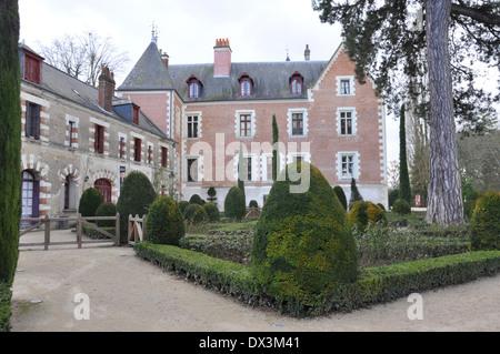 Manoir du Clos Lucé, Amboise, la dernière demeure de Léonard de Vinci. Banque D'Images
