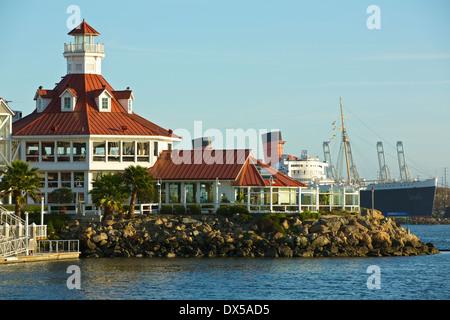 Parkers' Phare et la reine Marie de Long Beach, Californie. Banque D'Images